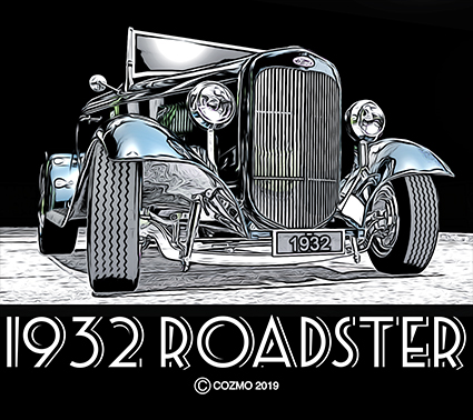 1932 ford roadster  graphic